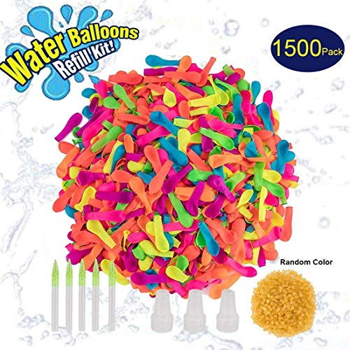 Water Bomb Balloons with Nozzle, 200ct