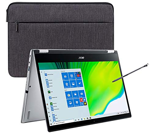"""2020 Newest Acer Spin 3 2-in-1 14"""" FHD Touchscreen Laptop Computer/ 10th Gen Intel Quad-Core i5 1035G1 (Beats i7-7500u)/ 8GB DDR4/ 1TB PCIe SSD/ WiFi 6/ Active Stylus/ Windows 10/ iPuzzle USB-C HUB"""