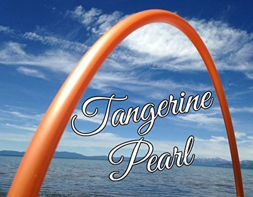 Tangerine Pearl PolyPro Practice Hula Hoop - You Choose Your Size (38 inch)