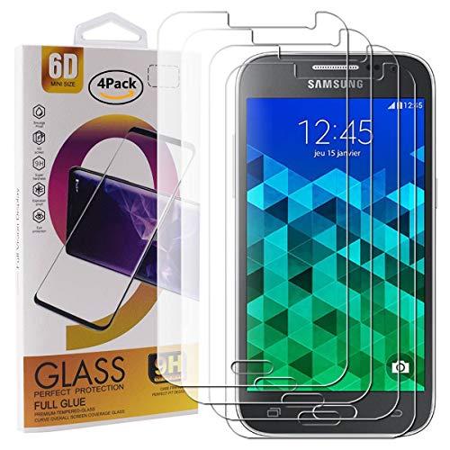 Guran 4 Paquete Cristal Templado Protector de Pantalla para Samsung Galaxy Core...