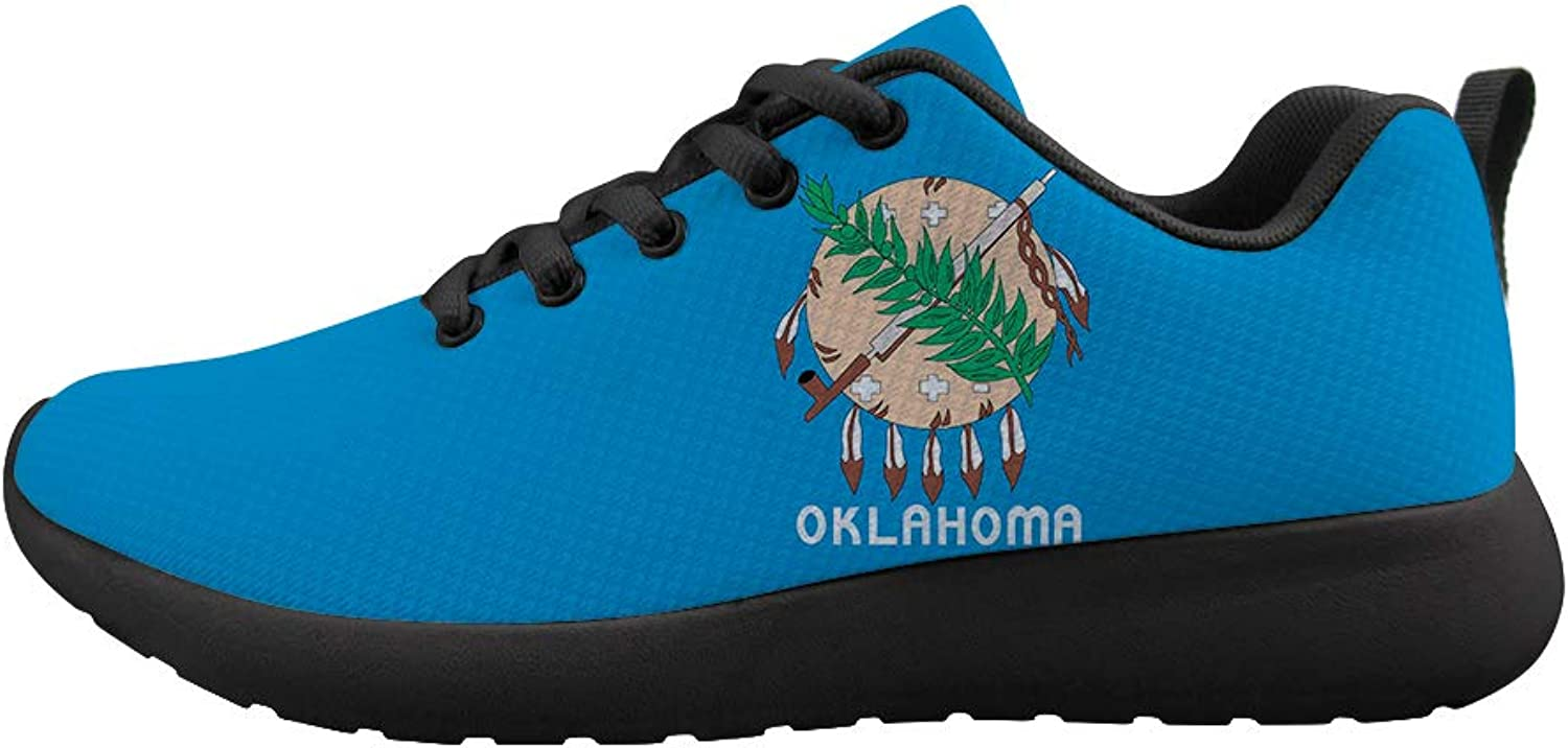 Cushioning Sneaker Trail Running shoes Mens Womens Indian Tribal Sooner State Oklahoma Flag
