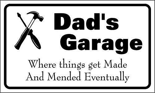 Dad's Garage signe nouveauté cadeau cadeau Garage Atelier Fathers Day 300 mm x 180 mm