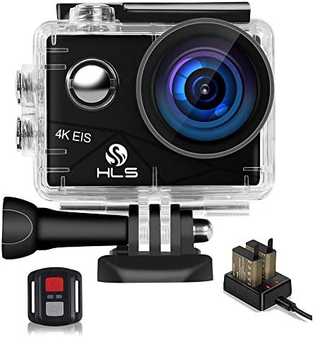 Video Action Camera 4K with Wide Angle Lens HD WiFi Underwater Camera with Waterproof Case Remote Outdoor Sports Camera for Vlog with Accessories Mount Kit Battery Charger