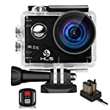 Video Action Camera 4K with Wide Angle Lens,HD WiFi Underwater Camera with Waterproof Case Remote,Outdoor Sports Camera with Accessories Mount Kit Battery Charger for Vlog