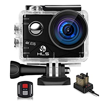 HLS Video Action Camera 4K with Wide Angle Lens HD WiFi Underwater Camera with Waterproof Case Remote Outdoor Sports Camera for Vlog with Accessories Mount Kit Battery Charger
