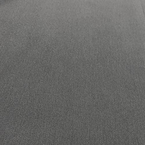 Kt KILOtela Tela por Metros de loneta Lisa - Algodón, poliéster - Solidez a la luz: 5-6 - Ancho 280 cm - Largo a elección de 50 en 50 cm   Gris Oscuro