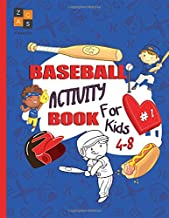 baseball activity book for kids 4-8: baseball gift for kids age 4 and up