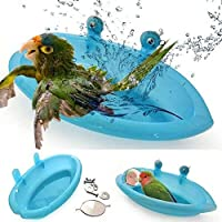JIAM 2個 ペットバードケージ用の鳥の水浴槽ハンギングボウルオウムインコ鳥の浴槽、丸い浴槽シャワーバスタブキット簡単な設置