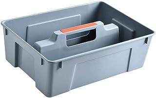 B/H boîtes de Rangement empilables,Panier de Rangement en Plastique Boîte de tri des débris de Bureau - Gris