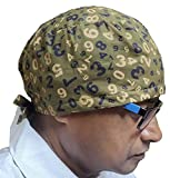 VIVY Cotton Printed Surgical Scrub & Doctor's Chemo lab Cap (Free Size, Numbured)