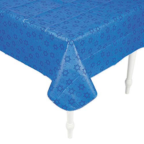 Fun Express - Hanukkah Premium Tablecover - Party Supplies - Licensed Tableware - Misc Licensed Tableware - 1 Piece