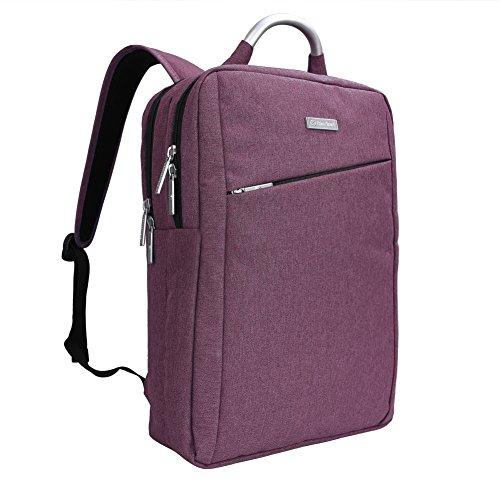 Impermeabile antiurto e leggero tessuto di Oxford 15.6 Pollici Borsa zaino del computer portatile /Messenger Bag Tablet Cartella zaino scuola (Viola)