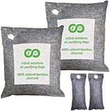 Activated Charcoal Air Purifying Bag 4 Pack (2 x 500g, 2 x 100g), Car Freshener & Home Odor Eliminators, Bamboo Charcoal Deodorizer, Odor Absorber, Air Freshener