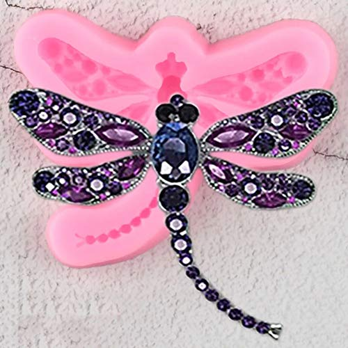 SKJH Dragonfly Silicone Molds Polymer Clay Molds Cupcake Topper Cake Decorating Tools Candy Chocolate Moulds