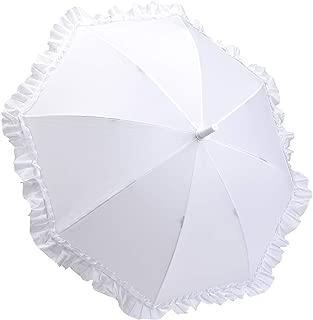 Kid's Ruffle Umbrella (White)