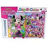 Disney Clementoni - Puzzle infantil (9-12-18 piezas), diseño de Minnie Mouse