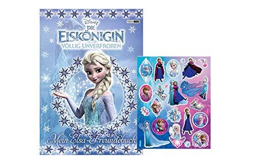 Buchspielbox Disney Die Eiskönigin - Set: Mein ELSA-Freundebuch (Gebundene Ausgabe) + 1x Frozen Sticker