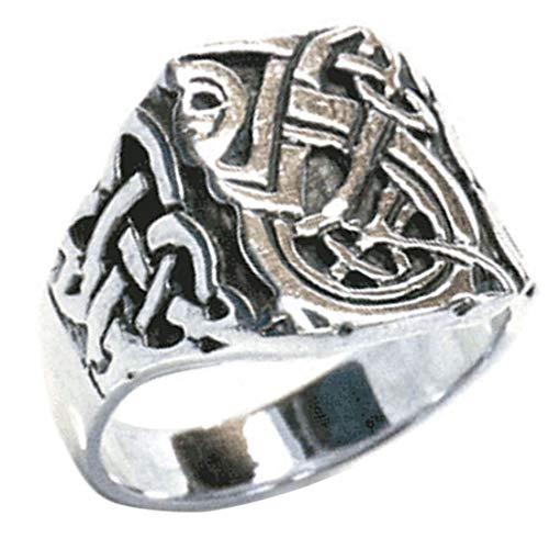 指輪 シルバー925 リング メンズ SILVER925 銀 ブランド ハヌマーン 22号 印台型 カレッジリング 編み込み アジアン エスニック アンティーク 四角形