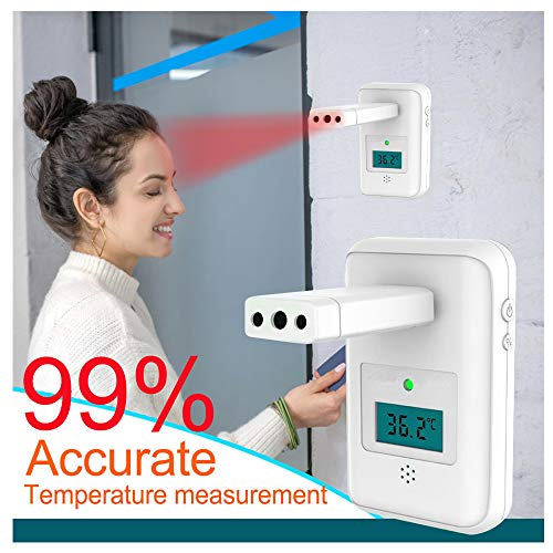 Affordable Thermometer Forehead for Fever, Touchless Wall Mounted Digital Infrared Thermometerfor Ad...
