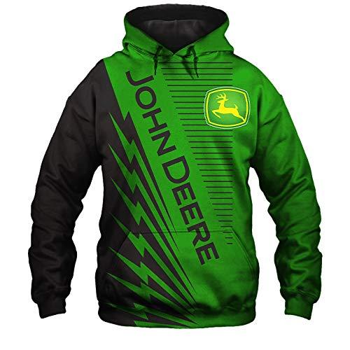 xiaosu Männer Hoodies Jacke 3D Digital Gedruckt Mit Kapuze Pullover/Zip Zum Neu Stil John-Deere Sweatshirts Fans Jersey Teen / B1 / L