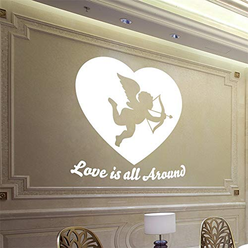 Dtcrzjxh Pegatinas De Pared 3D Decoración Para El Hogar Sala De Estar Cupido Vinilo Decorativo Para El Día De San Valentín Vinilos Decorativos De La Habitación Matrimonial, D