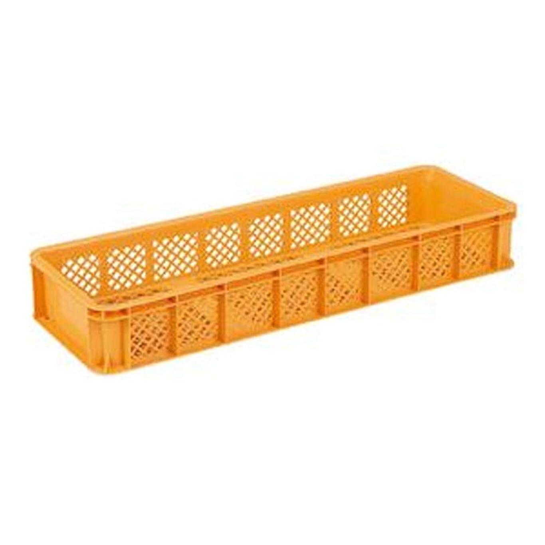 同盟バスケットボール袋三甲 - サンコー - / 全面網目コンテナボックス/サンテナー/スタッキング可 / B55-3 / オレンジ - -