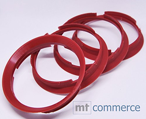 CRK 4X Zentrierringe 76,9 x 72,6 mm kirschrot Felgen Ringe Made in Germany