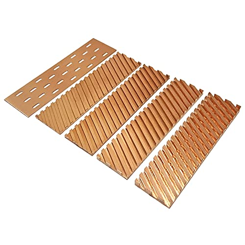 LJGFH Heat Sink Pure Copper Heatsink Cooler Heat Sink Thermal Conductive Adhesive for M.2 NGFF 2280 PCI-E NVME SSD 67x18x0.5/1.5/2/3/4mm (Color : 67x18x4.0 Chute)