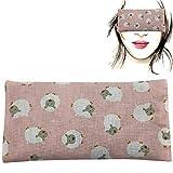 Almohada para los ojos 'BEEE - pink' | Semillas de Lavanda y arroz | Yoga, Meditación, Relajación,...