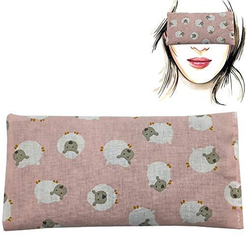 Almohada para los ojos 'BEEE - pink' | Semillas de Lavanda y arroz | Yoga, Meditación, Relajación, descanso de ojos...