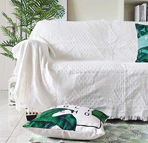 YANRR Funda de sofá de estilo europeo, antideslizante, de color blanco, para salón, 180 x 260 cm