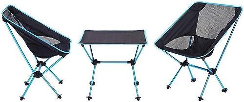 Gaorb Tables et chaises pliantes de camping en plein air, Table pliante en aluminium pour tissu Oxford et ensemble de chaises, Table de pliage portative de camping en plein air portable