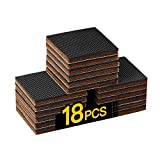 "Furniture Pads Non SLIP-18 PCS 2"" HN STG Furniture Gripper,Best Self Adhesive Square Rubber Pads.Protector Sofa Anti Slip Hardwood Floors.Anti Scratch for Fix in Place Furniture Chair Legs Bed"