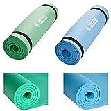 Hansson.Sports Yogamatte Gymnastikmatte Fitnessmatte von Premium Qualität, SGS-geprüft, 100% schadstofffrei, Größe: 180 x 60 x 1,2 cm, mit Tragegurte, (Grün)