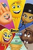 Pyramid International Póster de la película Emoji de Star Characters, plástico/vidrio, multicolor, 61 x 91,5 x 1,3 cm