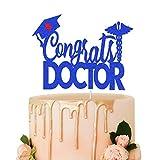 Decoración para tartas con purpurina azul, decoración para tartas de graduación, graduación de la escuela médica, graduación de enfermera, clase de 2021, accesorio para fotos,