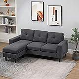 Immagine 1 homcom divano angolare 3 posti