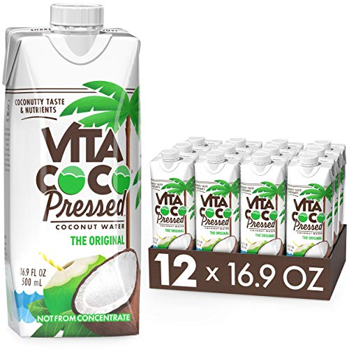 Vita Coco Water More 'Coconutty' Flavor Natural Electrolytes Vital Nutrients 16.9 Pack Of 12, Pressed Coconut, 202.8 Fl Oz