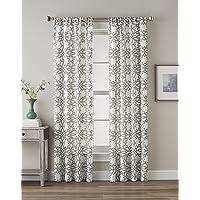 CHF 63 Inch Lotus Harmony Geometric Print Curtain Panel