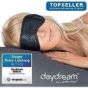 daydream Premium Schlafmaske, Frauen & Herren   Topseller seit 10 Jahren   Sieger beim Test von Vergleich.org (enthält KEIN Kühlkissen)   Schlafmasken   Schlafbrille   Augenmaske   Augenklappe B-1002-NC
