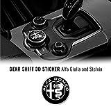 Quattroerre Aufkleber Alfa Romeo Logo 51 mm für Innen Giulia Stelvio