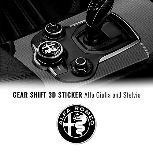 Quattroerre Adesivo Alfa Romeo Logo 51 mm per Interno Giulia Stelvio