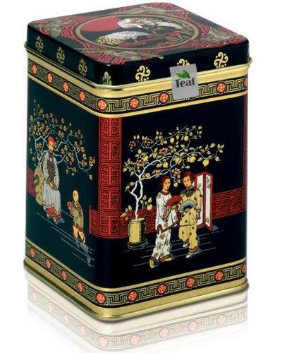 CELYON BOP UVA HIGHLANDS - schwarzer Tee - in einer Black Jap Dose eckig (Teedose) - 147x147x214mm (1 Kilo)
