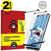 Crixia Galaxy S8 Schutzglas Schutzfolie, [2 Stück] Qualität 3D Gehärtetem Glass[9H Härte] [Anti-Fingerabdruck] [Keine Blase Installation] Displayschutzfolie Panzerglasfolie für Galaxy S8
