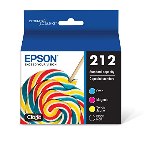 EPSON T212 Claria Ink Standard Capacity Black & Color Cartridge Combo Pack (T212120-BCS) for select Epson Expression and WorkForce Printers