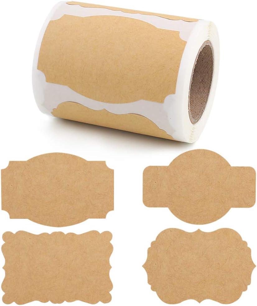 Ranking TOP19 Jacksonville Mall SallyFashion 200 PCS Kraft Paper Stickers Tags Gift Label Blank