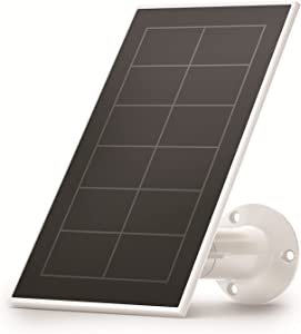 Arlo Certified Accessory - Solar Panel Charger (2021 Released) for Arlo Ultra, Ultra 2, Pro 3, Pro 4 and Pro 3 Floodlight Cameras, Weather Resistant, Adjustable Mount, Easy Installation,White-VMA5600