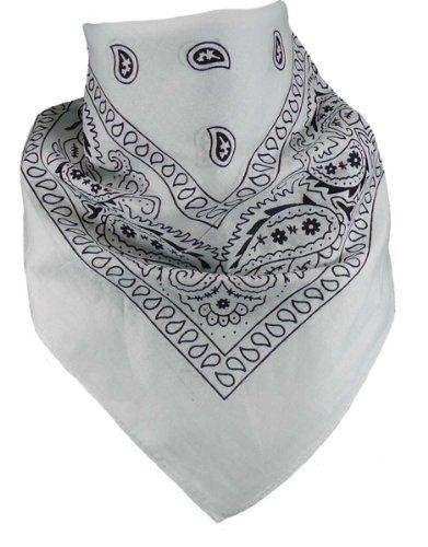 Harrys-Collection Unisex Bandana Bindetuch 100% Baumwolle (1 er 6 er oder 12 er Pack), Farbe:weiss