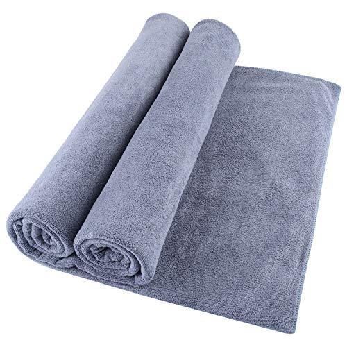 Microfiber Bath Towel Bath Sheets 2 Pack (32 x 71 Inch) Oversized...