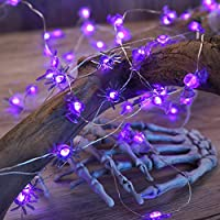 Set of 2 DooVee Halloween String 40 LED Purple Lights